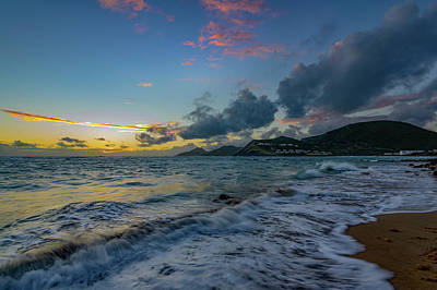 Photograph - St. Kitts Sunrise by Christopher Nelson