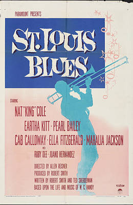 Royalty-Free and Rights-Managed Images - St. Louis Blues poster 1958 by Stars on Art