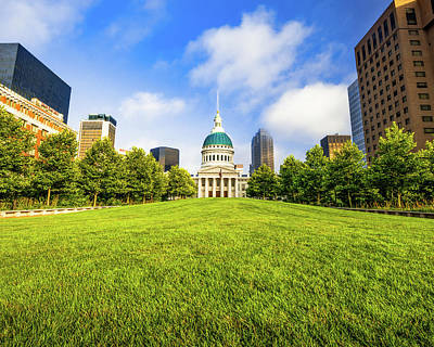 Royalty-Free and Rights-Managed Images - St Louis Old Courthouse and Lawn by Gregory Ballos