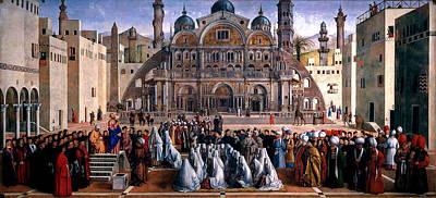 Just Desserts - St Mark Preaching in Alexandria  Gentile Bellini and Giovanni Bellini by Artistic Rifki
