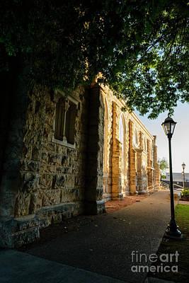 Thomas Kinkade - St Marys Catholic Church Street Lamp by Thomas R Fletcher