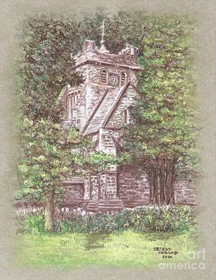 Pastel - St. Mary's Church, Betws y Coed, Wales Pastel Drawing by Stephany Elsworth
