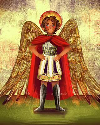 Digital Art - St. Michael the Archangel by Amy Rodriguez