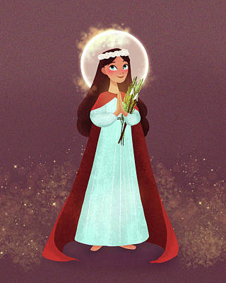 Digital Art - St. Philomena by Amy Rodriguez