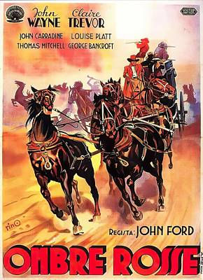 Mixed Media Royalty Free Images - Stagecoach, with John Wayne, 1939 Royalty-Free Image by Stars on Art