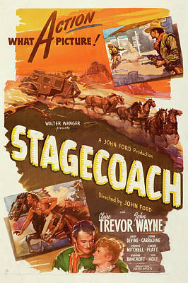 Halloween Movies - Stagecoage 1939 by Stars on Art