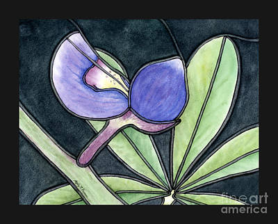 Royalty-Free and Rights-Managed Images - Stained Glass Bluebonnet Patel by Hailey E Herrera