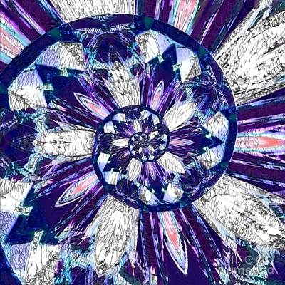Animal Portraits Royalty Free Images - Stained Glass Mosaic Spiral Royalty-Free Image by Rachel Hannah