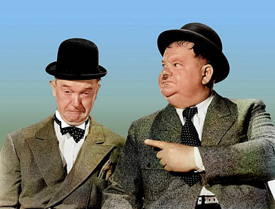 Royalty-Free and Rights-Managed Images - Stan Laurel and Oliver Hardy by Stars on Art