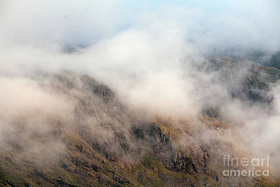 Photograph - Stand Crag in swirling cloud 2 by Gavin Dronfield