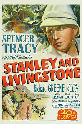 Royalty-Free and Rights-Managed Images - Stanley and Livingstone movie poster, with Spencer Tracy, 1939 by Stars on Art