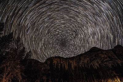 Royalty-Free and Rights-Managed Images - Star Trail - Yosemite National Park by Bipul Haldar