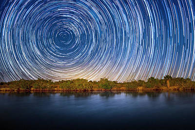 Colorful People Abstract Royalty Free Images - Star Trails in the Everglades Royalty-Free Image by Mark Andrew Thomas