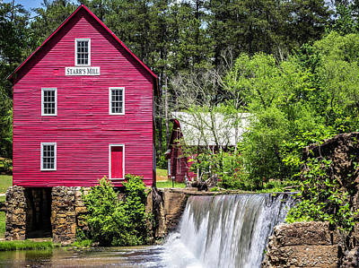 Photograph - Starr's Mill by Randy Bayne