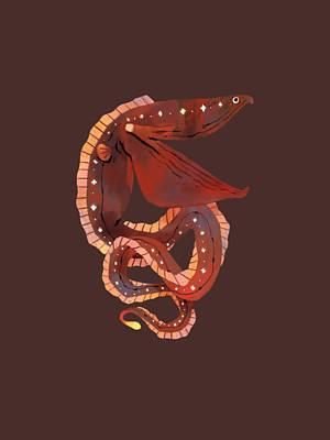 Animals Digital Art - Starry Gulper Eel by Duong Ngoc son