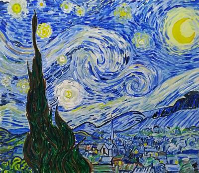 Painting - Starry Night by Bachmors by Bachmors Artist