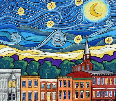 David Bowie Royalty Free Images - Starry Night Over Galena - Crop Royalty-Free Image by David Hinds