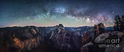 Photograph - Starry Night over Half-Dome by Heyengel