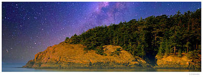 Firefighter Patents Royalty Free Images - Starry Night, Straight of Juan de Fuca Royalty-Free Image by A Macarthur Gurmankin
