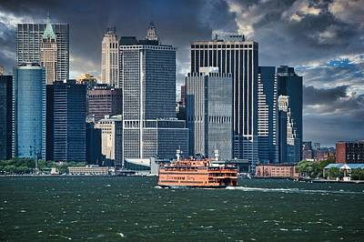Mannequin Dresses Rights Managed Images - Staten Island Ferry and Lower Manhattan Royalty-Free Image by David Halperin