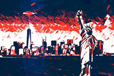 Mixed Media - Statue of Liberty New York City Art by Pierce Anderson