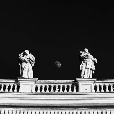 Priska Wettstein Land Shapes Series - Statues at St. Peters Square in Rome, Italy by Fabiano Di Paolo