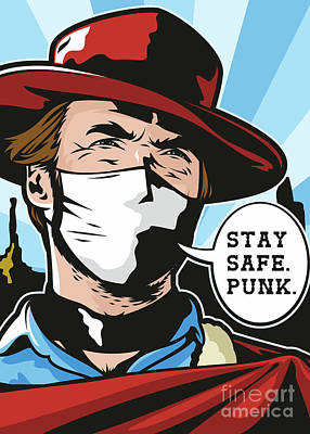 Painting - Stay Safe Punk by James Lee