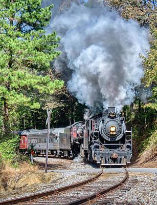 Claude Monet - Steam Locomotives Rounding Curve by Mark Chandler