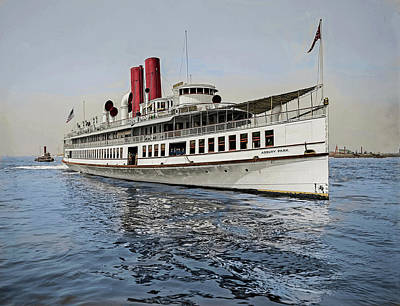 Target Threshold Nature Royalty Free Images - Steamer Asbury Park, photographed in New York in 1903 - 1905 Royalty-Free Image by Celestial Images