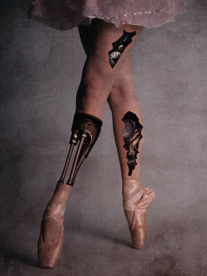 Surrealism Royalty-Free and Rights-Managed Images -  Steampunk ballerina legs by Mihaela Pater