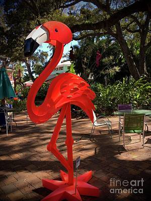 Amy Weiss - Steel Pink Flamingo by Gary F Richards