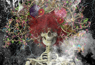 Surrealism Digital Art Rights Managed Images - Stellar One Royalty-Free Image by Betsy Knapp