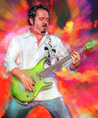 Abstract Animalia - Steve Lukather Musician by Mal Bray