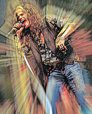 1-war Is Hell Royalty Free Images - Steven Tyler Aerosmith Singer Royalty-Free Image by Mal Bray