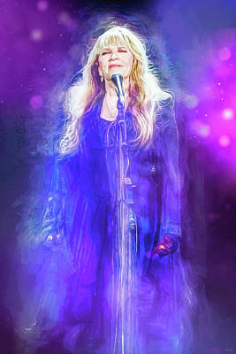 Royalty-Free and Rights-Managed Images - Stevie Nicks Live by Mal Bray