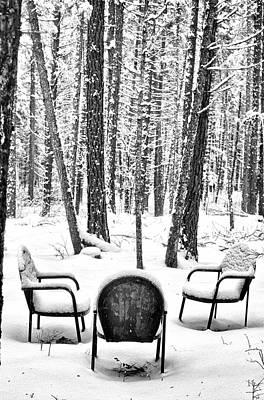 Abstract Shapes Janice Austin - Still Life with Chairs by Dariusz Janczewski