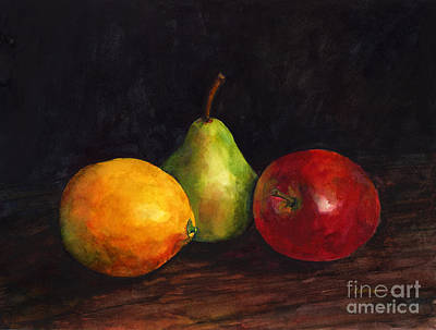 Popstar And Musician Paintings Royalty Free Images - Still Life with Fruit Royalty-Free Image by Hailey E Herrera