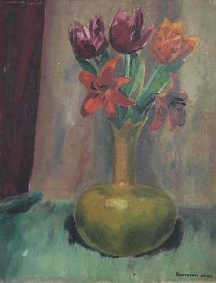 Susan Elizabeth Jones Royalty-Free and Rights-Managed Images - Still Life with Tulips by Susan Elizabeth Jones