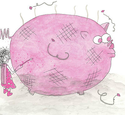 Katharine Hepburn - Stinky Pink Pig by Mike Mooney