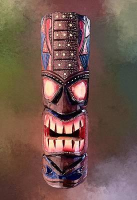 Miles Davis - Stipple Tiki Mask by Anthony Jones