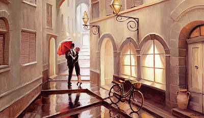 Royalty-Free and Rights-Managed Images - Stolen Kiss 2 by Steve Henderson