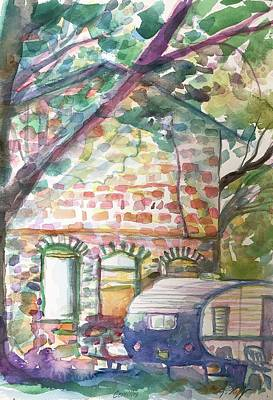 Painting - Stone House Cerrillos by Glen Neff