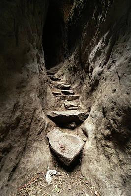 Pasta Al Dente - Stone staircase into a mountain, Laibela, Ethiopia by Millward Shoults