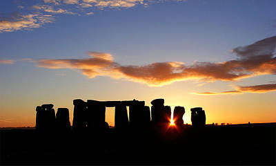 Kitchen Mark Rogan Rights Managed Images - Stonehenge at Sunset Royalty-Free Image by Arie Van der Wijst