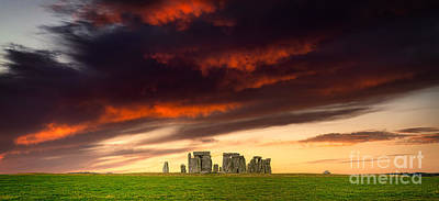 Sean Rights Managed Images - Stonehenge on the summer solstice Royalty-Free Image by Stefano Senise