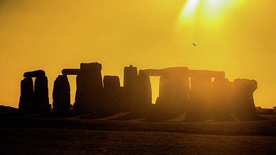 Abstract Airplane Art - Stonehenge Silhouette by Rob Hemphill