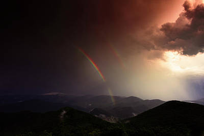 Route 66 Royalty Free Images - Storm and Rainbow, Brasstown Bald Royalty-Free Image by Ryan Johnson