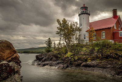 Photograph - Storm at Eagle Harbor by Scott Thomas Images