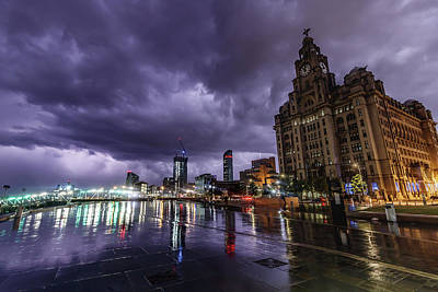 Photograph - Storm at Liverpool Waterfront by Paul Madden