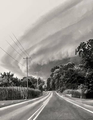David Bowie Royalty Free Images - Storm Clouds Over Chester County Royalty-Free Image by Susan Maxwell Schmidt